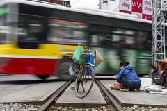 bike (Greg Rohan) Tags: food bus bicycle bike traintracks hanoi vietnam 2017 d7200 people blur