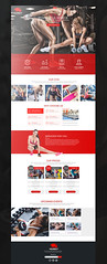 Celebrity Trainer Branding Design (lemongraphic) Tags: brand bear fitness trainer gym sport layout template web logo logotype red