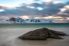 Haukland Beach (madduke0715) Tags: nordland norway no lofoten clouds beach hauckland winterscape winter ocean sunset