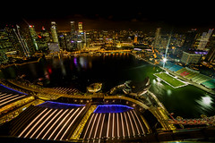 Marina Bay || Singapore (David Marriott - Sydney) Tags: singapore sg building marina bay sands casino soccer football long exposure 14mm samyang cbd urban river