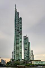 Bangkok River (21mapple) Tags: chaophrayariver river water bangkok thailand sky skyline skyscraper