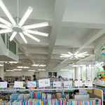 Today, I uploaded the library on 1st floor. Another mood, standard library interior. A point of the light shape look like flower.