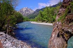 日本上高地 (linwujin) Tags: japan 歧阜 mountain bridge river nature landscape tree green blue cloud fujifilm xt1 xf1024 sky 上高地