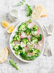 spring broccoli and radish salad... (sonja-ksu) Tags: food salad vegetables broccoli radish vegetarian foodphotography
