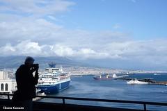 The port of Naples (Eleanna Kounoupa) Tags: νάπολη napoli naples italy italia ιταλία castelnuovo λιμάνι port θάλασσα νερό πλοία σύννεφα sea water boats clouds silouettes σιλουέτεσ vesuvius βεζούβιοσ