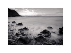 Na Clara (B&W) (g.femenias) Tags: naclara betlem artà mallorca seascape blackandwhite bw sea rocks sunset longexposure ndfilter