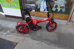 Cute little electric bike (Stop carbon pollution) Tags: japan 日本 honshuu 本州 touhoku 東北 fukushimaken 福島県 kuroiso 黒磯