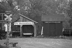 Coldwater Museum (D & E Grey Wolf Photography) Tags: coldwater myontario blackandwhite railway