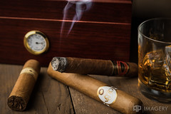 Cigar and Bourbon (AP Imagery) Tags: humidor glass commercial stilllife cohiva smoke stock whiskey bourbon setup studio ventura oliva arturofuente cigar tobacco kentucky usa nostrobistinfo removedfromstrobistpool seerule2 experimental