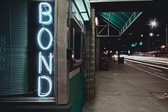 Age (hitmanfre1) Tags: atlanta atl georgia night long exposure starburst street city downtown neon bold green bond bail no person desolate