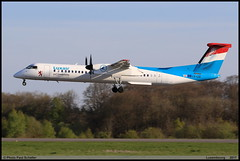 BOMBARDIER DASH8 Q402 Luxair LX-LQI 4534 Luxembourg avril 201 (paulschaller67) Tags: bombardier dash8 q402 luxair lxlqi 4534 luxembourg avril 201