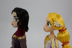 Rapunzel and Cassandra Doll Set - Tangled: The Series - Disney Store Purchase - Deboxed - Free Standing - Portrait Right Side View (drj1828) Tags: us disneystore tangled tangledtheseries doll 2017 purchase posable 10inch 2d deboxed rapunzel cassandra