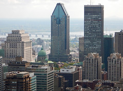 Mount Royal Lookout (canavart) Tags: montreal downtown lookout mountroyal mariereinedumonde cathedral sunlifebuilding quebec canada