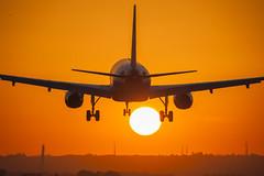 _DSC6705 (jsanchezqSpotter) Tags: aviation spotter spotting airplane aircraft airbus a320 airline airport sunset landing