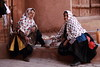 Long scarves (deus77) Tags: abyaneh iran long white scarves grannies women portrair iranian people