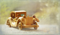 Well .... A girl can dream ;o) (Elisafox22) Tags: elisafox22 sony ilca77m2 100mmf28 macro macrolens telemacro happybokehwednesday hbw car vintagecar toy wooden carved simplepleasures texture textures elisaliddell©2017