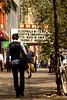 Sleepwalking (jezselten) Tags: ny newyork america usa city urban man walkinking sign look looking reading sleepwalking dressed people famous lucky happy sunlight sun glow