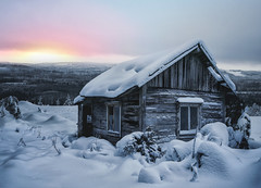 (Mikko Erholtz) Tags: landscape frozen winter cold house snow wood mountain ice weather frost barn finland snowdrift cabin hut bungalow frosty chalet log