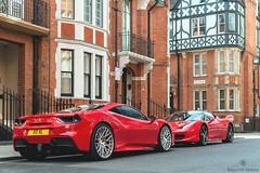 Relatives (Beyond Speed) Tags: ferrari 488 gtb 458 italia supercar supercars car cars carspotting nikon v8 london knightsbridge red automotive automobili auto