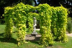 Stone Gardener (Xerones) Tags: gazebo gardener statue green suttonpark june2017 fujix100t suttonontheforest yorkshire