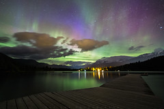 Sky Dance (Bun Lee) Tags: landscape altalake astrophotography aurora auroraborealis bc britishcolumbia bunlee bunleephotography canada colorful lake mountains nature nightskies nightscapes northernlights starrynight stars whistler