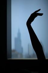black swan (soufflelove.) Tags: urban black swan building hand arm body silhouette 101