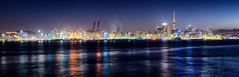 Devonport to Auckland (Pat Charles) Tags: auckland newzealand northisland panorama pano panoramic city urban exploration night nighttime nikon longexposure tripod skycity tower skyline cityscape dusk evening bluehour devonport aotearoa 1001nights 1001nightsmagiccity