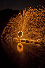 Stepping Stones Spin (Tom Patterson) Tags: dovedale steppingstones peakdistrict derbyshire peaks reflection led spinning nightphotography lightpainting steelwoolspinning steelwool wirewool wirewoolspinning longexposure longexpo england uk greatbritain unitedkingdom gb lights light night