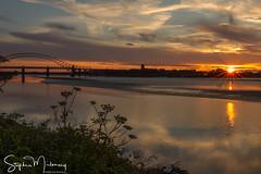 Wigg Island Sunset (stephenmulvaney) Tags: starbursts widnes halton wiggisland bridges sunsets silhouettes