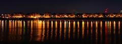 Docklands (mttdlp) Tags: london england d3200 nikon night nightscape longexposure long exposure reflection river water red black acqua colors