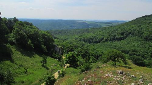 Pohled z vyhlídky nad Soutěskou