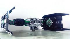 Jabba the Hutt's TIE Fighter - 1 Main pic (Evilkirk) Tags: starwars lego jabba hutt tie fighter moc