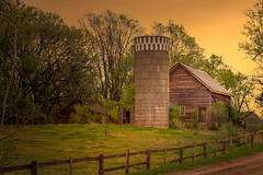Dawn Thoughts (henryhintermeister) Tags: barns minnesota oldbarns clouds farming countryliving country sunsets storms sunrises pastures nostalgia skies outdoors seasons field hay silos dairybarns building architecture outdoor winter serene grass landscape plant cloudsstormssunsetssunrises