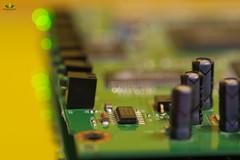 Chips (Argentarius85) Tags: nikond5300 sigma105mmf28exdgoshsm macromondays chips macromonday hmm lightpainting longexposure bokeh balls computerchip led reflection reflections reflexionen spiegelung depthoffield dof detail lichtmalerei licht light availablelight electricity elektrizität motherboard board