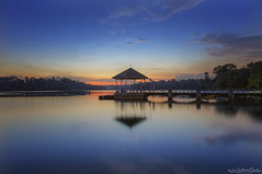 Shut of Day (ChieFer Teodoro) Tags: canon 6d 1635mm lee filter graduated neutral density gitzo gt2541 arca swiss z1 pcl6dr phottix aion landscape sunset lower pierce reservoir reflection singapore gazebo