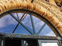 Larz Anderson Auto Museum (AntyDiluvian) Tags: boston massachusetts brookline larzanderson automuseum vintagecars vintageautos vintageautomobiles cadillacday entrance arch