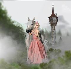 Maximus & Rapunzel (meriluu17) Tags: enchantment rapunzel maximus horse una mushilu tale tangled animal fantasy fairytale princess tower