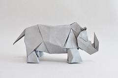 Rhinoceros - Hideo Komatsu (halogenandtoast) Tags: origami hideokomatsu