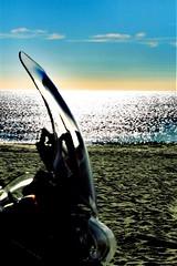 Motorcycle and beach, total relax....️ (carlesbaeza) Tags: yamaha xt1200z beach platja playa mar sea adventure travel bigtrail dualsport xladv
