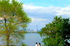"""Consider what a long way you've come today."" ~ Lewis Carroll  - Explored (Trinimusic2008 - stay blessed) Tags: trinimusic2008 judymeikle nature walk park humberbayparkw water sky clouds spring may 2017 toronto to ontario canada lake trees colour color cntower"
