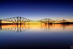 Forth Bridges (woollyhatphotography) Tags: bridge edinburgh forth forthbridges sea seascape woollyhatphotography landscape sunset water