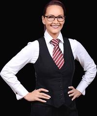 Chelsey (bof352000) Tags: woman tie necktie suit shirt fashion businesswoman elegance class strict femme cravate costume chemise mode affaire