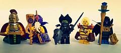 Fantasy Villians Figbarf (slight.of.brick) Tags: bikini lego dungeons dragons goblin djinn barbarian sorcerer yuanti