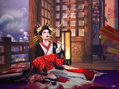 Sweet Intoxication (LiangScorpio) Tags: secondlife sl oiran kimono uchikake moonlight lyrics