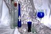 The Third Man (Four Times) (iecharleton) Tags: flickrfriday thirdman stilllife bottle ouzo glasses blue wineglass shotglass naturallight