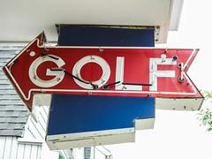Golf Neon Sign During The Day; Stone Harbor, New Jersey (hogophotoNY) Tags: hogophoto stoneharbor newjersey unitedstates us neon sign nj east eastcoast nikon nikonp900 p900 digital beachtown newjerseyus newjerseyusa