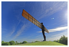 Angel of the North (Myrialejean) Tags: angelofthenorth angel statue sculpture nikond7200 sigma outdoors sky blue moon antonygormley sunny north england
