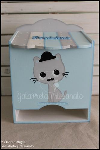 """Fraldário e cesta """"Cat Chaplin"""""""