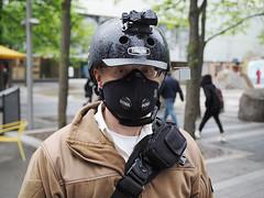 Urban Warrior (Explore) (jeffcbowen) Tags: stranger skateboard toronto helmet mask portrait