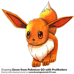 Eevee from Pokemon GO with ProMarkers [Speed Drawing] (drawingtutorials101.com) Tags: eevee pokemon go pokémon video games augmented niantic dennis hwang junichi masuda promarkers promarker alcohol markers marker color colors coloring drarw drawing drawings how draw timelapse